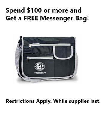 Spend $100 Get a Free Messenger Bag!