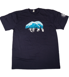 Dark Blue Polar Bear T-Shirt