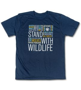 Navy wildlife t-shirt