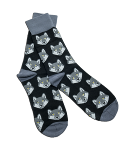 Gray Wolf Socks