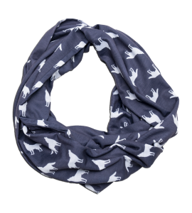 blue wolf infinity scarf