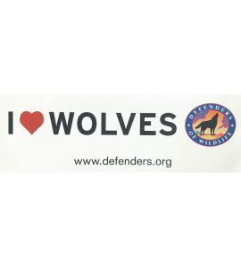 I Heart Wolves Bumper Sticker
